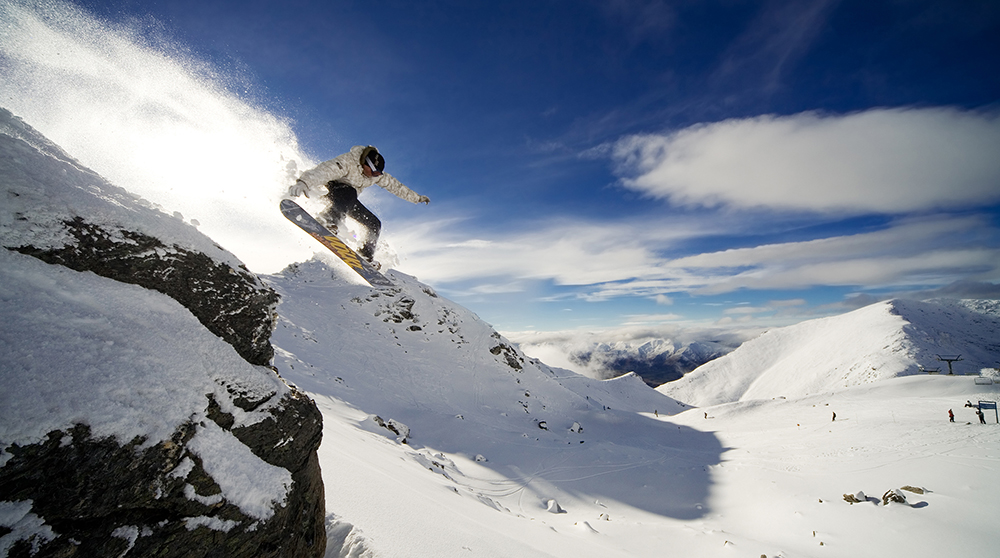 There are four stunning skifields around Wanaka - a skier at Treble Cone